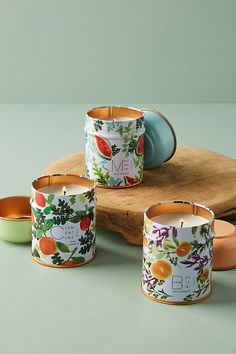 Shop unique candles that make the perfect gift. Explore Anthropologie's collection of scented candles and pretty candles. Creative Mother's Day Gifts, Cool Gifts, Large Candles, Tin Candles, Winter Wedding Centerpieces, Wedding Decorations, Cute Mothers Day Gifts, Good Burns, Sweet Watermelon