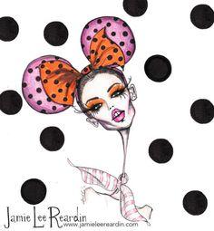 Georgia May Jagger in Miu Miu F/W 2013 by Jamie Lee Reardin Illustration.Files: Hello Sweetie