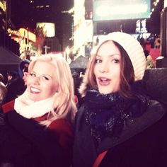 """Looks like Karen and Ivy could be up to something in Times Square again!"" -@katharinemcphee  #Smash"
