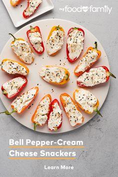 Cream Cheese Stuffed Peppers, Cream Cheese Snacks, Stuffed Mini Peppers, Cream Cheese Spreads, Cream Cheese Recipes, Lunch Box Recipes, Lunch Ideas, Sandwich Recipes, Sandwich Cream