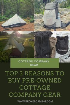 Top 3 Reasons To Use Pre-Owned Cottage Company Gear — Broke Roaming Backpacking For Beginners, Backpacking Tips, Hiking Gear, What Is A Cottage, Thru Hiking, Getting Out, Diving, Gears, The Good Place