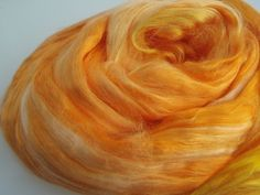 Mulberry Silk Roving Top Hand Dyed 20 grams for spinning, felting fibre, needle felting, fibre for dyeing 2047 by feltfibrecraft on Etsy