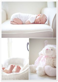 Sweet, natural light newborn session | Katie Markquart Photography: Baby Reese on TheIndieTot.com
