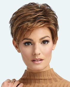 Advanced French Wig by Raquel Welch Wigs – Lace Front, Heat Friendly Synthetic Wig – cabelo Raquel Welch Wigs, Curly Hair Styles, Natural Hair Styles, Long Hair Tips, Glossy Hair, Short Pixie Haircuts, Short Wigs, Short Hair Cuts For Women, Smooth Hair