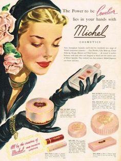 Michel Cosmetics Ad, 1953