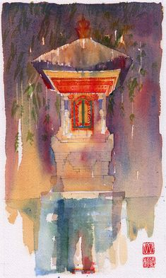 Ubud, Watercolour Painting, David, Art, Art Background, Kunst, Gcse Art, Art Education Resources, Artworks