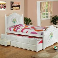 Hokku Designs Bella Captain Twin Bed with Trundle