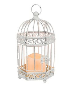 Look what I found on #zulily! Birdcage Lantern & Indoor/Outdoor Flameless Candle #zulilyfinds