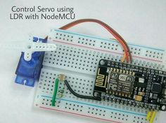 Control Servo Using LDR With NodeMCU