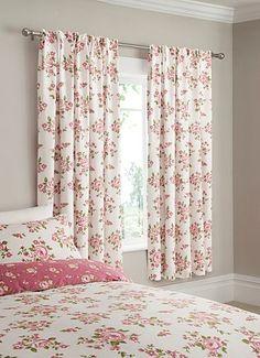ASDA Bed Curtains - Vintage Rose