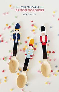 Free Printable Spoon Soldiers