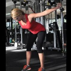 Without moving torso, raise arms straight out to sides until they're in line with your body. Pause, then slowly return to starting position.