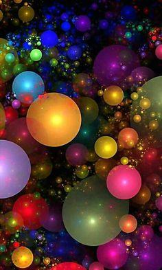 Billions of Bubbles.By Artist Wolfepaw. Beautiful Nature Wallpaper, Colorful Wallpaper, Galaxy Wallpaper, Cellphone Wallpaper, Flower Wallpaper, Wallpaper Backgrounds, Beautiful Flowers, Iphone Wallpaper, Amazing Wallpaper