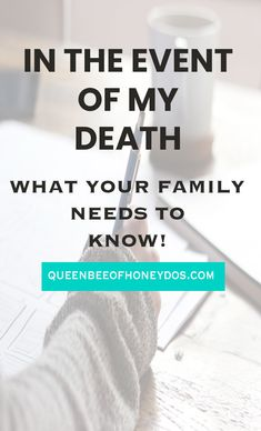 The one must do printable that you have been missing! Best way to help those left behind in the unfortunate event that something happens to you. Great companion for your Will. Emergency Preparedness Binder, Family Emergency Binder, Life Binder, Life Planner, Organizing Important Papers, Funeral Planning Checklist, When Someone Dies, Family Matters, Useful Life Hacks