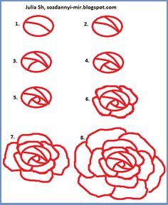 Как нарисовать розу на ногтях?