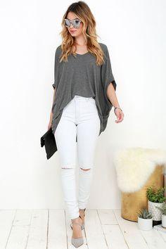 Rollas Westcoast White Distressed Skinny Jeans at Lulus.com!
