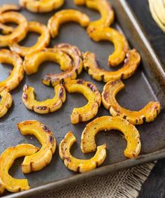 Learn how to cook delicata squash with this easy roasting method! Spoiler alert: No peeling necessary! You're going to be obsessed! Side Recipes, Pork Recipes, Vegetable Recipes, Paleo Recipes, New Recipes, Cooking Recipes, Favorite Recipes, Recipies, Delicata Squash Roasted