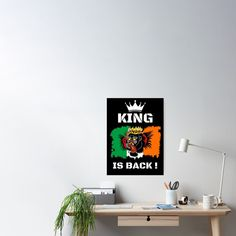 #thekingisback #conormcgregor #ufc #mma #findyourthing #shirtsonline #trends #riveofficial #favouriteshirts  #art #style #design #shopping #redbubble #digitalart #design #fashion #phonecases #customproducts #onlineshopping #accessories #shoponline #onlinestore Conor Mcgregor Poster, Black Edition, Blank Walls, Sell Your Art, Ufc, Custom Design, King, Trends, Cool Stuff