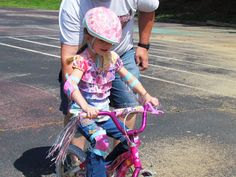 There are three basic ways to teach a child to balance on two wheels: training wheels, assisted two-wheeling, and unassisted two wheeling. Each has its advantages, and best results will often be obtained by a mixed approach, adjusted to the child's learning style and the practice area available.  #riding #bicycle