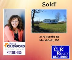 Another one SOLD! Contact Retta today for all of your real estate needs! 417-838-4105 Missouri Real Estate, Another One, Polaroid Film