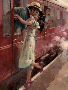 Raymond Leech, British impressionist painter, born 1949