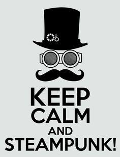 Keep calm and Steampunk Art Print  #steampunk - ☮k☮