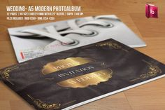 Check out Wedding - A5 Modern Photo Album by Flyerking on Creative Market