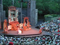 American Players Theatre- Spring Green's  Outdoor Theatre in the woods. Magical.