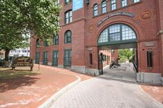 Check for available units at Baker Chocolate Factory in Boston, MA. Make Baker Chocolate Factory your new home. Modern Loft Apartment, Boston Apartment, Apartment Design, Loft Apartments, Living In Boston, Inexpensive Furniture, Furniture Styles, Furniture Websites, Brick Building