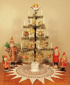 Feather Christmas Tree. Christmas Tree Candles and Candle Clips Available from www.christmasgiftsfromgermany.com