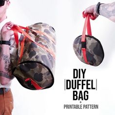How to make duffel bag + printable pattern. CLICK THE LINK for full tutorial! #fashion #sewingpatterns #sewing #sewingprojects #duffel #duffelbag #bags #instafashion #fashionista #style #handmade #diy #pattern #designer #accessories #gymbag