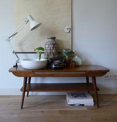 jaren 60 teak salontafel   60's teak coffee table  www.vanoudedingen.nl