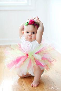 first birthday photography - natural light - the littlest ballerina