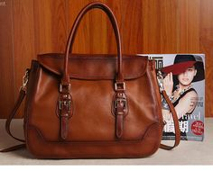 Women's Brown Real Leather Purse Genuine Leather Handbag Shoulder Bag Hobo Tote Purse Cowhide Bag  B154