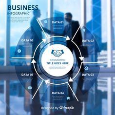 Business infographic template with photo. Graphisches Design, Slide Design, Flat Design, Design Trends, Free Infographic, Infographic Templates, Seo Tutorial, Graphic Design Brochure, Presentation Layout