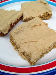 Oatmeal peanut butter bars with peanut  butter frosting...