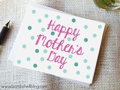 Make mom a handmade card this Mother's Day! It's the perfect way to write heartfelt sentiments to your mom, grandma, aunt or any mother figure in your life. Mothers Day Special, Mothers Day Cards, Happy Mothers Day, Envelopes, Mother's Day Printables, Mom Day, Happy Mom, Diy Cards, Handmade Cards
