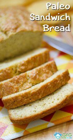 Paleo White Sandwich Bread Recipe   http://www.grassfedgirl.com/paleo-sandwich-bread-recipe/