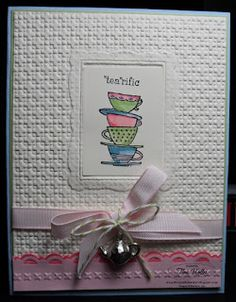"Double Embossing Technique with Stampin' Up! Embossing Folders, using ""Morning Cup"" stamp set ~ love it!"