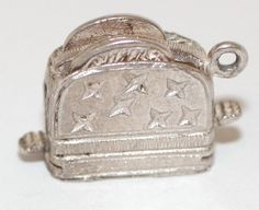 Vtg Moving Toaster Bread Sterling Silver 925 Charm 3 6g Food Drink Theme   eBay