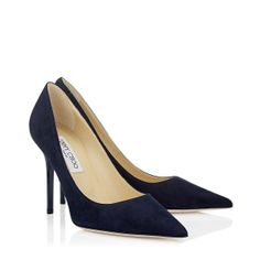 Jimmy Choo - Abel - 247abelsue - Navy Suede Pointy Toe Pumps