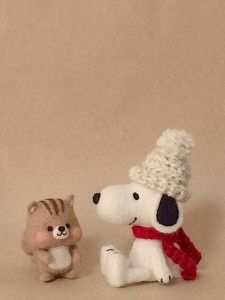 羊毛フェルト スヌーピー Chai Felt Design Chaiの羊毛フェルト ハンドメイド日記
