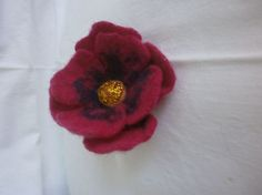 Unique Felt Brooch Flower Accessory by FahionFeltProducts on Etsy