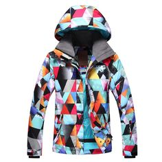 335933eb999 Gsou Snow Brand Womens Colorful Ski Jacket Waterproof Snowboard Jacket  Front Best Ski Jacket