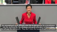 The deputies of the Left Party, Sahra Wagenknecht, responds to the Policy Statement by Chancellor Angela Merkel, June 4, 2014 Original Video Material: Deutsc...