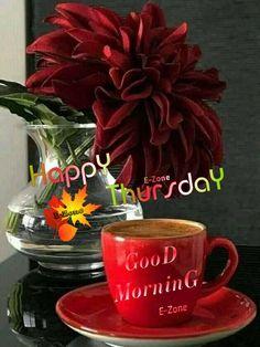 Good Morning Thursday, Mugs, Tableware, Dinnerware, Tumblers, Tablewares, Mug, Dishes, Place Settings