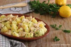 Insalata cremosa di pollo e patate