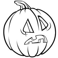 Dessin Citrouille d'Halloween étonnée a colorier
