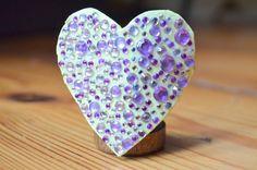 yellow heart clip hair clip purple by ZuckerstueckBerlin on Etsy