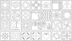 Free Printable Quilt Motifs | Quilting: Stitching the layers together NOTE: Also see Marking Tools
